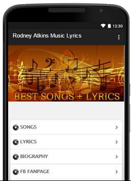 Rodney Atkins Music Lyrics poster