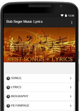 Bob Seger Music Lyrics poster