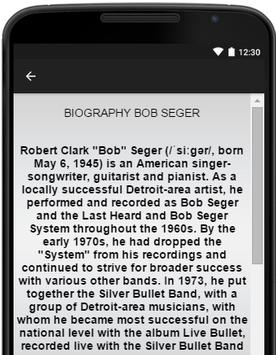 Bob Seger Music Lyrics apk screenshot