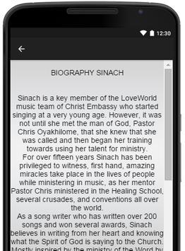 Sinach Music Lyrics apk screenshot