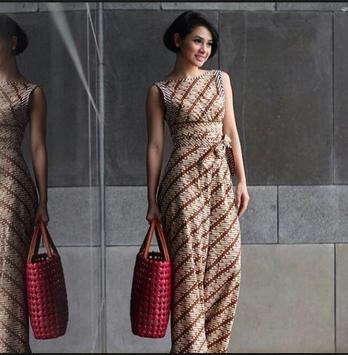 batik kebaya fashion poster