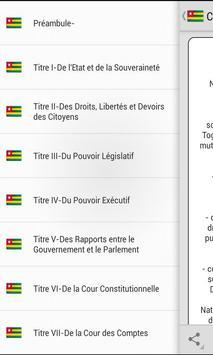Constitution Togolaise screenshot 1