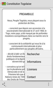 Constitution Togolaise screenshot 2
