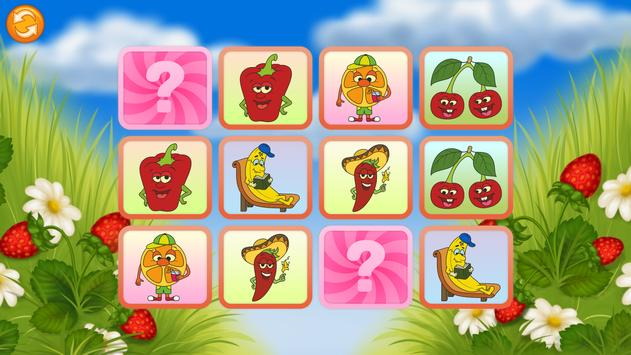 Pairs Match - Fruits poster
