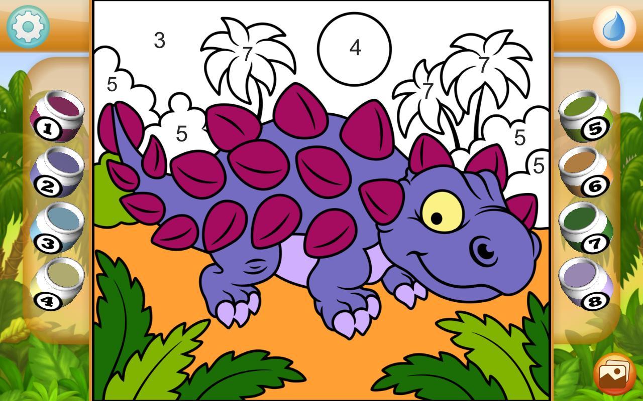 Malen Nach Zahlen Dinosaurier Für Android Apk Herunterladen
