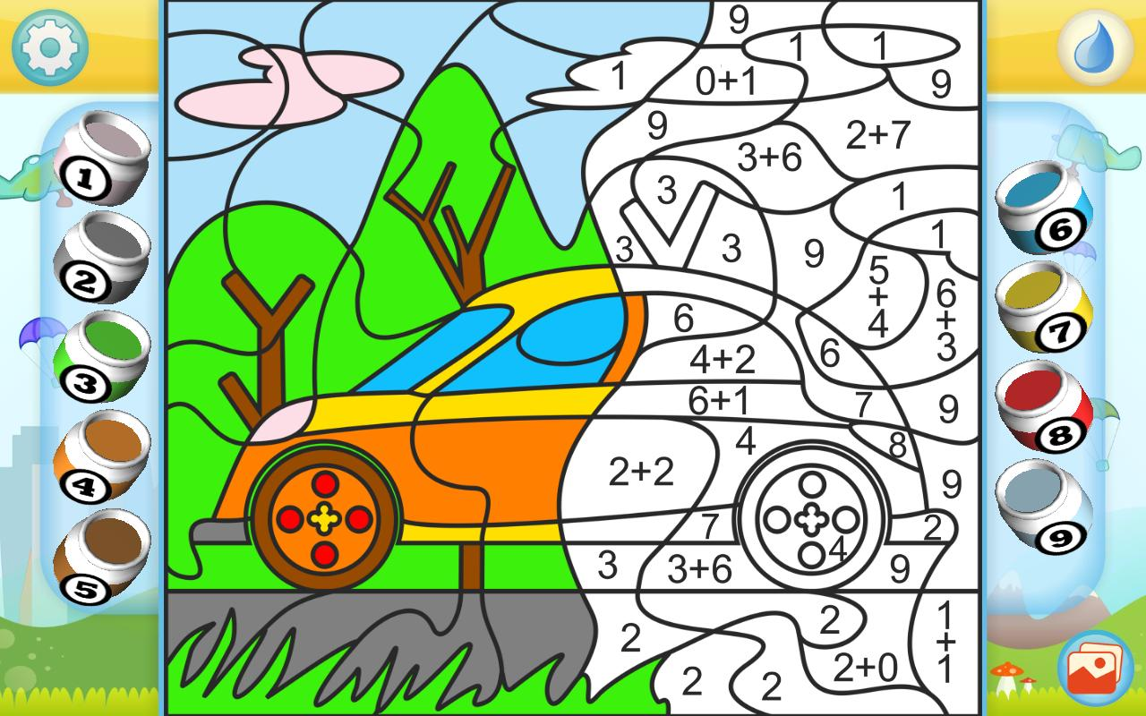 Color By Numbers Cars For Android Apk Download