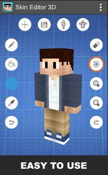 Skin Editor 3D for Minecraft постер