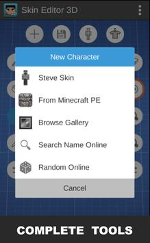 Skin Editor 3D for Minecraft скриншот приложения
