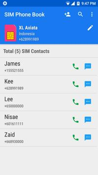 SIM Phone Book poster