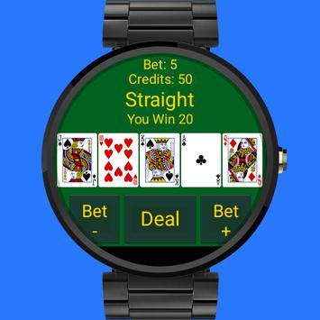 Wear Video Poker apk screenshot
