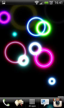 Neon Rings Live Wallpaper FREE screenshot 4