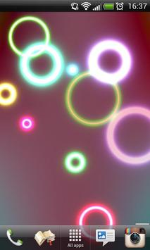 Neon Rings Live Wallpaper FREE poster