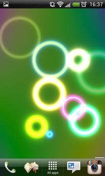 Neon Rings Live Wallpaper FREE screenshot 1