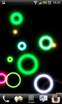 Neon Rings Live Wallpaper FREE apk screenshot