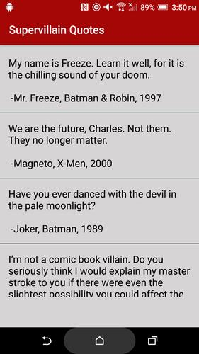 Supervillain Quotes for Android - APK Download