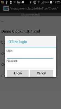IoTize™ Configuration Loader apk screenshot