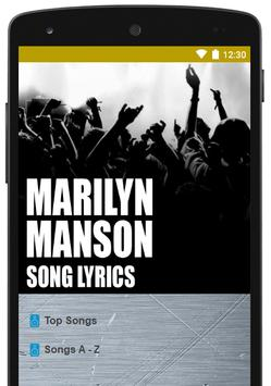 Best Of Marilyn Manson Lyrics poster