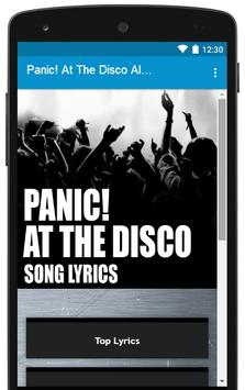 All Song Lyrics Panic At The Disco!! poster
