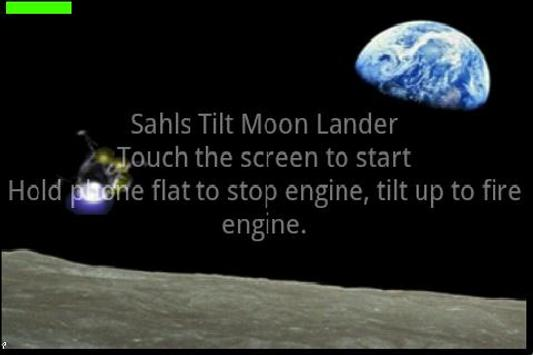 Touch and Tilt Moon Lander poster
