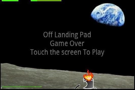 Touch and Tilt Moon Lander apk screenshot