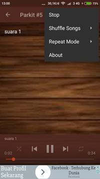mp3 Suara Burung Parkit screenshot 1