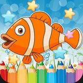Sea Animals Coloring Book icon