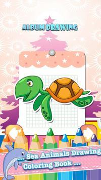 Sea Animals Coloring Book poster
