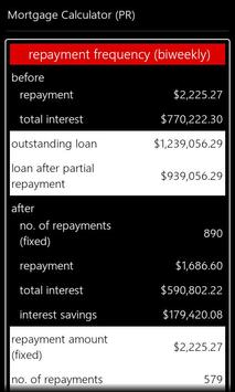 Partial Repayment Calculator apk screenshot