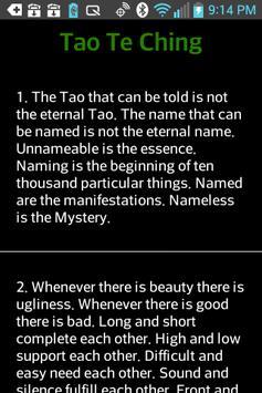 Tao Te Ching apk screenshot