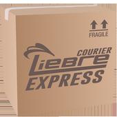 Liebre courier express icon