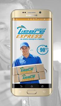 Liebre courier express poster