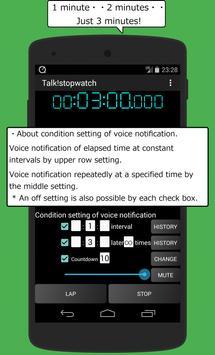 Talk! stopwatch & timer app poster