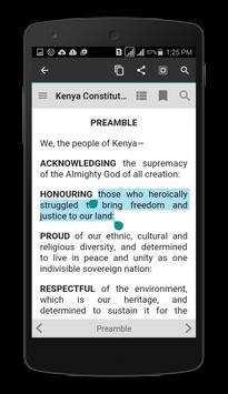 Kenya Constitution 2010 apk screenshot