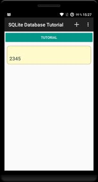 SQLite Database Tutorial (Demo) screenshot 1
