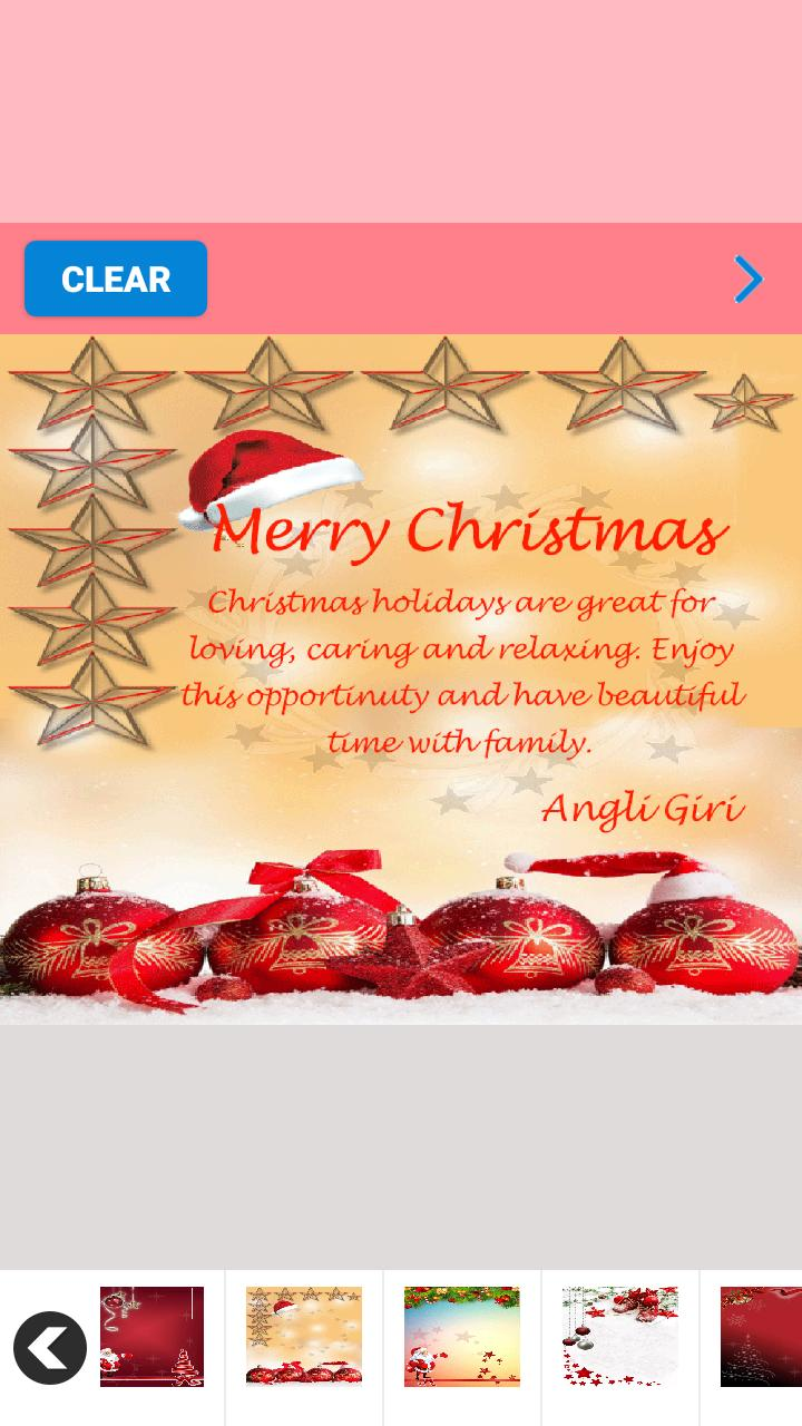 Christmas Greetings Card Maker poster