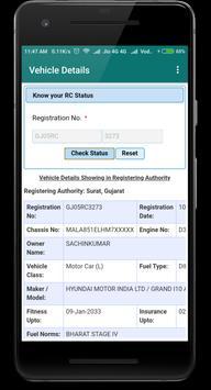 Find Vehicle owner Detail-RTO Vehicle Information screenshot 1