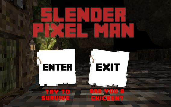 Slender Pixel Man Cartaz