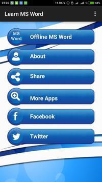 Learn MS Word apk screenshot