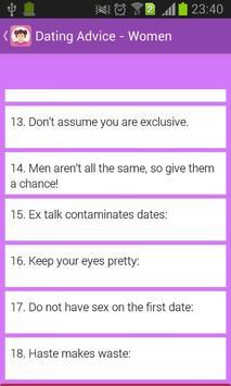 Dating Advice For Women apk screenshot