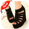 pretty modern wedges shoes icon