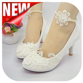 model of wedding shoes collection. icon
