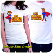 cool coupel shirt design icon