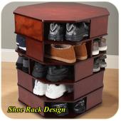 shoe rack design icon