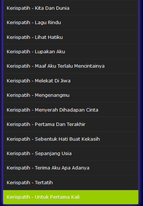Kerispatih lagu rindu for android apk download.