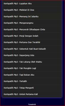 Lagu Kerispatih Lengkap screenshot 2