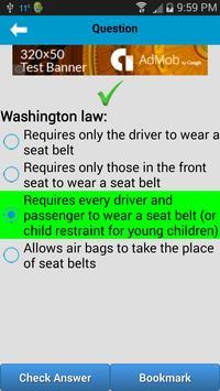 DMV Test Washington apk screenshot