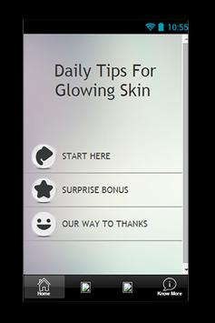 Daily Tips For Glowing Skin poster