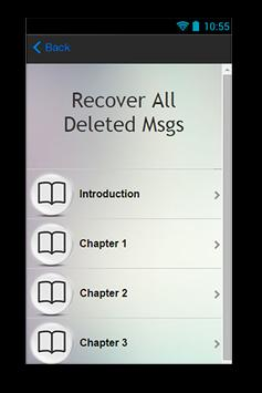 Recover All Deleted Msgs Guide screenshot 1