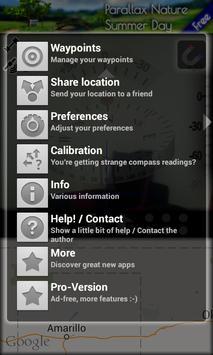 Transparent GPS Compass screenshot 1