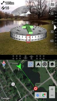 AR GPS Compass Map 3D ポスター